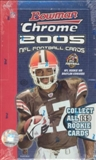 2005 Bowman Chrome Football Hobby Box (EX BOX, MINT PACKS)