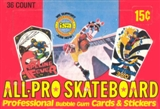 All Pro Skateboard Wax Box (1978 Donruss)