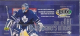 2001/02 Upper Deck Playmakers Hockey Hobby Box