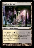 Magic the Gathering Guildpact Single Godless Shrine LIGHT PLAY (NM)