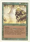 Magic the Gathering 3rd Ed (Revised) Single Force of Nature - MODRATE PLAY (MP)