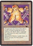 Magic the Gathering Antiquities Single The Rack LIGHT PLAY (NM)