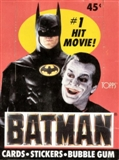 Batman Movie Wax Box (1989 Topps)