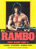 Rambo First Blood Part Two Wax Box (1985 Topps)