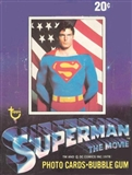 Superman: The Movie Series 1 Wax Box (1978-79 Topps)