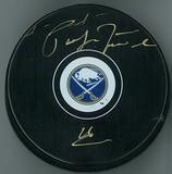 Pat LaFontaine Autographed Buffalo Sabres Hockey Puck