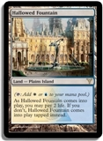 Magic the Gathering Dissension Single Hallowed Fountain FOIL NEAR MINT
