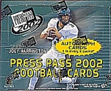 2002 Press Pass Football Hobby Box