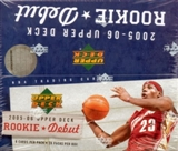 2005/06 Upper Deck Rookie Debut Basketball 28 Pack Box