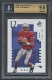 2000 SP Authentic #118 Tom Brady Rookie #0101/1250 BGS 9.5