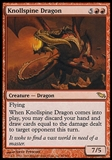 Magic the Gathering Shadowmoor Single Knollspine Dragon - SLIGHT PLAY (SP)