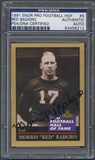 1991 ENOR Pro Football HOF #5 Red Badgro Signed Auto PSA DNA