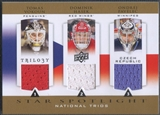2013-14 Upper Deck Trilogy #CZRNET Tomas Vokoun Dominik Hasek Ondrej Pavelec Three Star International Jersey