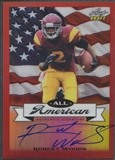 2013 Leaf Metal Draft #AARW1 Robert Woods All-American Prismatic Red Rookie Auto #3/5