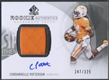 2013 SP Authentic #180 Cordarrelle Patterson Rookie Patch Auto #247/325