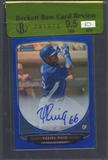 2013 Bowman Chrome Prospect #YP Yasiel Puig Blue Refractor Rookie Auto #087/150 BGS 9.5 Raw Card Review
