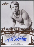 2013 Leaf Sports Heroes #BARB1 Rick Barry Auto