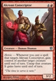 Magic the Gathering Born of the Gods Single Akroan Conscriptor Foil NEAR MINT (NM)