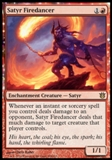 Magic the Gathering Born of the Gods Single Satyr Firedancer Foil NEAR MINT (NM)