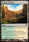 Magic the Gathering Born of the Gods Single Temple of Plenty Foil NEAR MINT (NM)