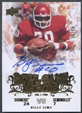 2011 Upper Deck College Legends #BGHSI Billy Sims Bowl Game Heroes Auto #36/75