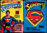 Superman I & II Wax Pack 62 Count Lot (Topps)
