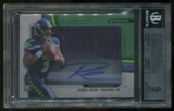 2012 Topps Strata Clear Cut Russell Wilson Rookie Green Patch Auto #54/55 BGS 9 10 Auto