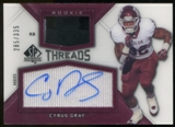 2012 Upper Deck SP Authentic Rookie Threads Autographs #RTCG Cyrus Gray Autograph /335