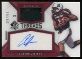 2012 Upper Deck SP Authentic Rookie Threads Autographs #RTJE Alshon Jeffery Autograph /335