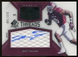 2012 Upper Deck SP Authentic Rookie Threads Autographs #RTJF Jeff Fuller Autograph /335