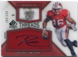 2012 Upper Deck SP Authentic Rookie Threads Autographs #RTRW Russell Wilson RC Autograph /335