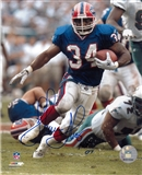 Thurman Thomas Autographed Buffalo Bills Blue Jersey 8x10 Football Photo