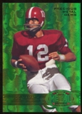 2012 Upper Deck Retro Joe Namath Precious Metal Gem Green Serial #7/10