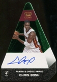 2012/13 Panini Preferred Chris Bosh Choice Award Auto Serial #3/5 Green Parallel