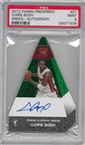 2012/13 Panini Preferred Chris Bosh Choice Award Auto Serial #3/5 Green Parallel PSA 9