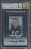 1999 Score Supplemental #JU19 Johnny Unitas Inscriptions Auto BGS 9
