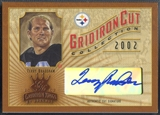 2002 Gridiron Kings #GC20 Terry Bradshaw Gridiron Cut Collection Auto #042/160