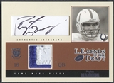 2004 SkyBox LE #PM Peyton Manning LEgends of the Draft Patch Auto #15/25