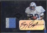2005 Leaf Limited #TT1 Barry Sanders Team Trademarks Jersey Auto #44/50