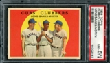 1959 Topps Baseball #147 Cubs' Clubbers PSA 8 (NM-MT) *2197
