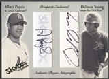 2004 SkyBox Autographics #APDY Albert Pujols & Delmon Young Prospects Endorsed Dual Auto #20/50