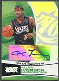 2005/06 Topps Luxury Box #AI Allen Iverson Box Seats Auto #077/224
