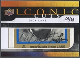 2008 Upper Deck #IC41 Dick Lane Mystery Iconic Cuts Cut Auto #05/24