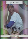 2008 Donruss Threads #15 Ernie Banks Signatures Gold Auto #05/10