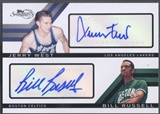2008/09 Topps Signature #TSDWR Jerry West & Bill Russell Dual Auto #16/49