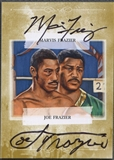 2010 Ringside Boxing Round One #AMJF Joe Frazier & Marvis Frazier Gold Auto /10