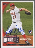 2010 Topps #661C Stephen Strasburg Million Card Giveaway Rookie Auto #195/299