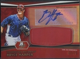 2012 Bowman Platinum #BH Bryce Harper Red Refractor Jumbo Patch Auto #02/25