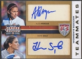 2012 Americana Heroes and Legends #1 Alex Morgan & Hope Solo US Women's Soccer Teammates Dual Auto #03/49