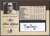 2004 Classic Clippings #RJ Randy Johnson Signature Edition Auto #16/50
